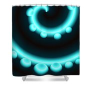 V Continuum In Blue Shower Curtain