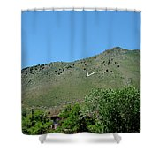 V For Virginia City Nv Mail Drop Shower Curtain