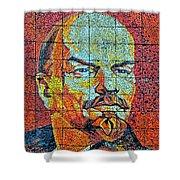 V. I. Ulyanov. Mosaic. Sochi Park. Shower Curtain