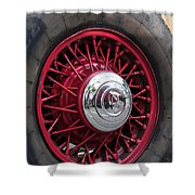 V8 Wheels Shower Curtain
