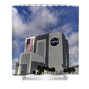 Vab At Kennedy Space Center Shower Curtain