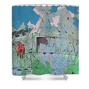 Vacant Vaca Barn Shower Curtain