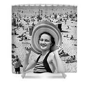 Vacation Montage, C.1930s Shower Curtain