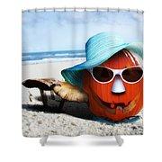 Vacationing Jack-o-lantern Shower Curtain