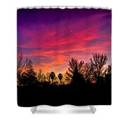 Vacaville Sunset Silhouette  Shower Curtain