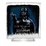 Vader Shower Curtain by Antonio Romero