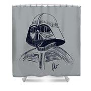 Vader Sketch Shower Curtain