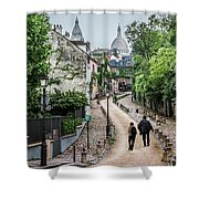 Vagabonds In France Book Cover Shower Curtain