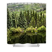 Vail Reflections In The Summer Shower Curtain
