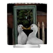 Vain Duck Shower Curtain