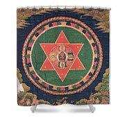 Vajravarahi Mandala Shower Curtain