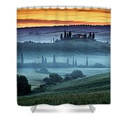 Val D'orcia Shower Curtain