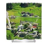Val Poschiavo From The Bernina Express Switzerland Shower Curtain