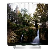 Val Rea Waterfalls Shower Curtain