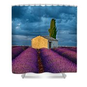 Valensole Shed Shower Curtain