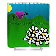 Valentine Card Shower Curtain