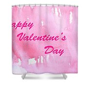 Valentine Card Shower Curtain