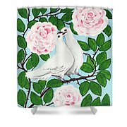 Valentine Doves Shower Curtain