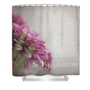Valentine Flowers Shower Curtain