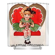 Valentine Greetings Shower Curtain