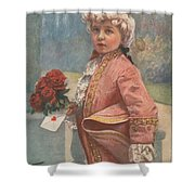 Valentine In The Victorian Era Shower Curtain