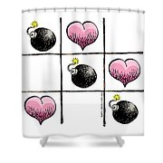 Valentine Violence Shower Curtain