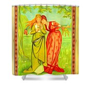 Valentine's Card Shower Curtain
