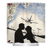 Valentine Kiss Shower Curtain