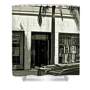 Valentino On Rodeo Drive Shower Curtain
