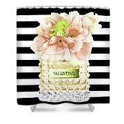 Valentino Perfume With Flower Shower Curtain