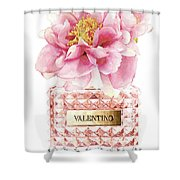 Valentino Pink With Peony Shower Curtain