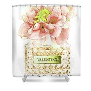 Valentino With Peony Shower Curtain