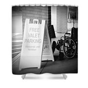 Valet Parking Shower Curtain