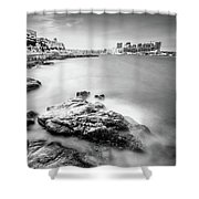 Valetta Shower Curtain by Okan YILMAZ