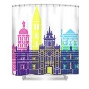 Valladolid Skyline Pop Shower Curtain