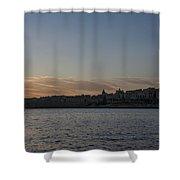 Valletta Malta Magic Hour Skyline Shower Curtain