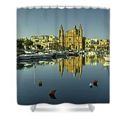 Valletta Reflected  Shower Curtain