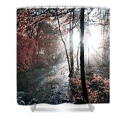 Valley Creek Sunrise Shower Curtain