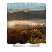 Valley Fog At Sunrise One Shower Curtain