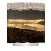 Valley Fog At Sunrise Two Shower Curtain