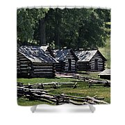 Valley Forge Barracks Shower Curtain