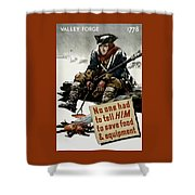 Valley Forge Soldier - Conservation Propaganda Shower Curtain