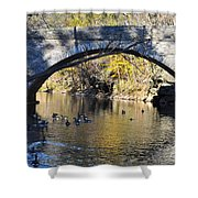 Valley Green Bridge Shower Curtain by Bill Cannon
