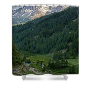 Valley In The French Alps Shower Curtain