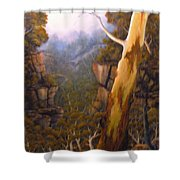 Valley Morning Dew Shower Curtain
