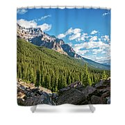 Valley Near Moraine Lake Banff Shower Curtain