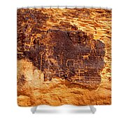 Valley Of Fire Ancient Petroglyphs Shower Curtain