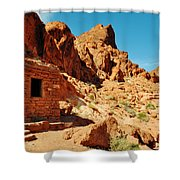 Valley Of Fire Cabin Shower Curtain