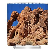 Valley Of Fire Elephant Rock Shower Curtain