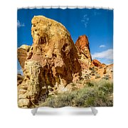 Valley Of Fire - Face In The Rock Shower Curtain